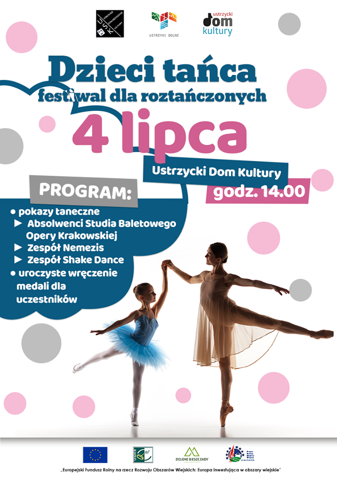 Dzieci tańca - festiwal dla roztańczonych - plakat